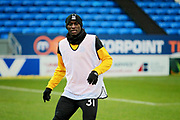 Southend United forward Theo Robinson (31) warming up before the EFL Sky Bet League 1 match between Peterborough United and Southend United at London Road, Peterborough, England on 3 February 2018. Picture by Nigel Cole.