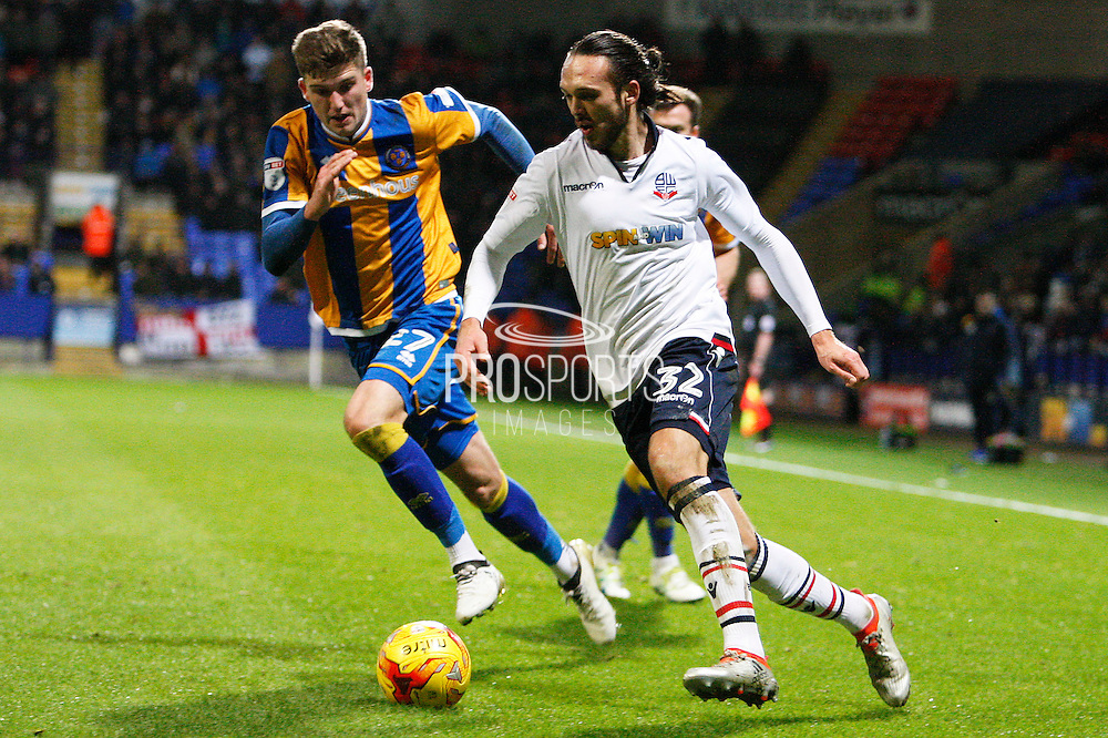 Bolton's Tom Thorpe (32) during the EFL Sky Bet League 1 match between Bolton Wanderers and Shrewsbury Town at the Macron Stadium, Bolton, England on 26 December 2016. Photo by Craig Galloway.