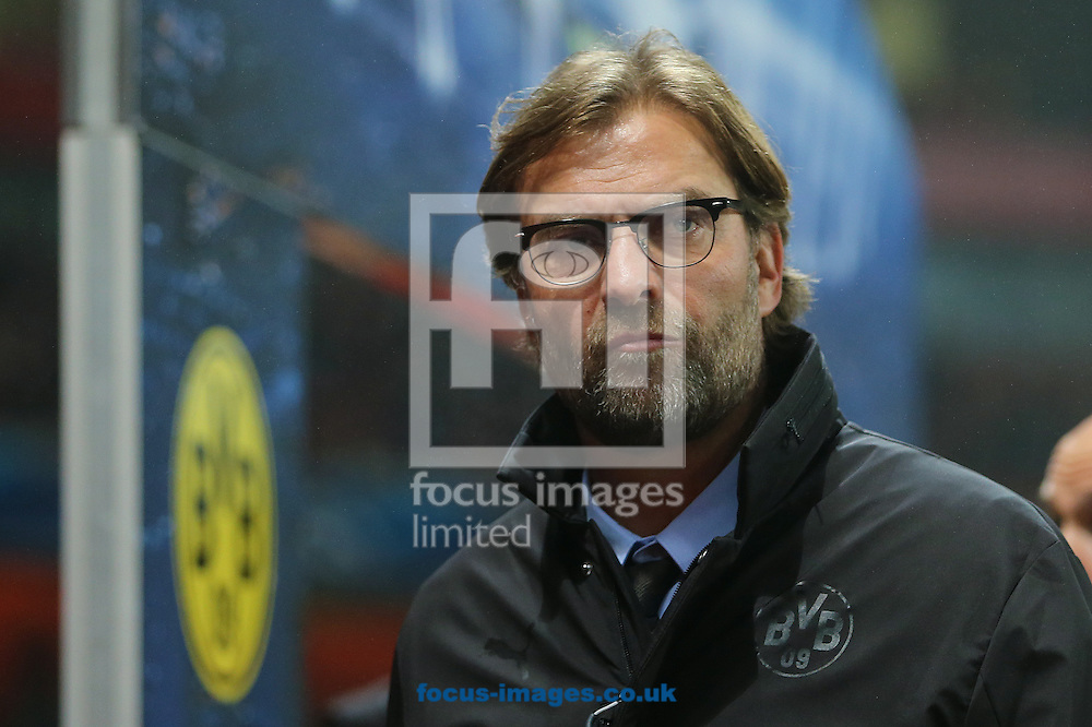 Jurgen Klopp, former Borussia Dortmund manager, has been linked to the vacant post at Liverpool FC following the sacking of Brendan Rodgers earlier today. <br /> Picture by Focus Images/Focus Images Ltd 07814 482222<br /> 04/10/2015<br /> <br /> FIL ARSENAL DORTMUND 29.jpg<br /> <br /> File image for live news.<br /> <br /> Original caption:<br /> <br /> Manager of Borussia Dortmund, Jurgen Klopp during the UEFA Champions League match at the Emirates Stadium, London<br /> Picture by Richard Calver/Focus Images Ltd +447792 981244<br /> 26/11/2014