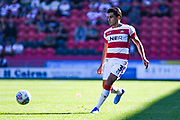 Doncaster Rovers defender Reece James (3) in action during the EFL Sky Bet League 1 match between Doncaster Rovers and Peterborough United at the Keepmoat Stadium, Doncaster, England on 21 September 2019.