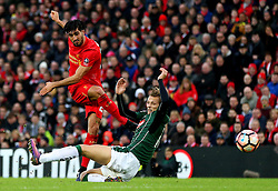 Emre Can of Liverpool fires a shot at goal  - Mandatory by-line: Matt McNulty/JMP - 08/01/2017 - FOOTBALL - Anfield - Liverpool,  - Liverpool v Plymouth Argyle - Emirates FA Cup third round