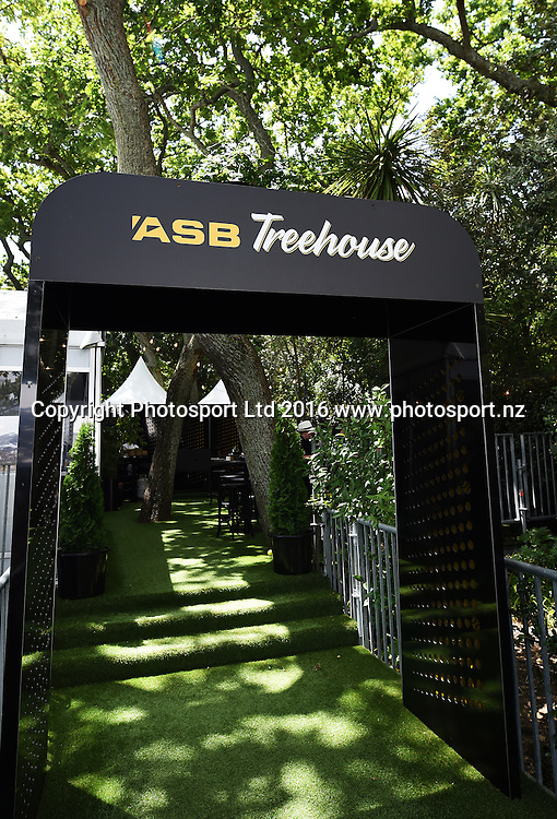 General view of The Treehouse on quarter finals day at the ASB Classic Tennis Men's tournament. ASB Tennis Centre, Stanley st, Auckland, New Zealand. Thursday 14 January 2016. Copyright Photo: Andrew Cornaga / www.photosport.nz
