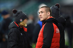 Mike Brown of England looks on from the sidelines during the pre-match warm-up - Mandatory byline: Patrick Khachfe/JMP - 07966 386802 - 18/11/2017 - RUGBY UNION - Twickenham Stadium - London, England - England v Australia - Old Mutual Wealth Series International