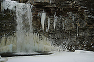 Frozen water at Minnewaska State Park, New Paltz, NY
