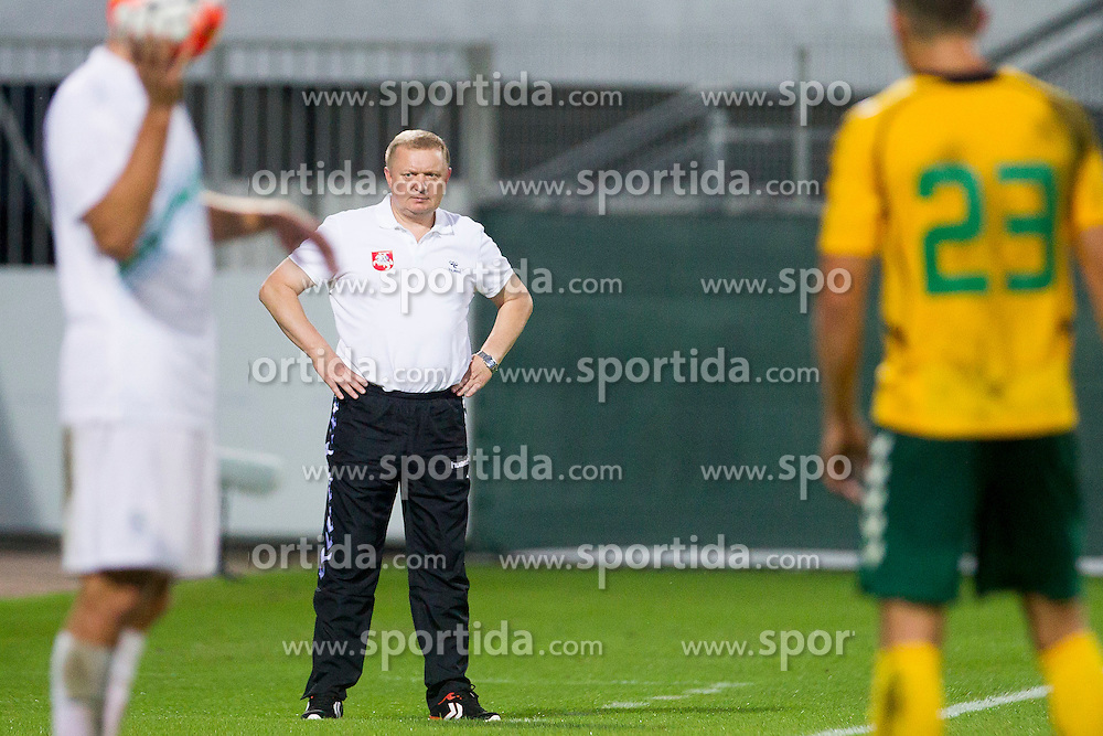 Antanas Vingilys, head coach of Lithuania during football match between U21 National Teams of Slovenia and Lithuania in 2nd Round of UEFA 2017 European Under-21 Championship Qualification on September 4, 2015 in Arena Petrol, Celje, Slovenia. Photo by Urban Urbanc / Sportida