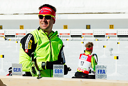 MARIC Janez of Slovenia at warming up prior to the Men 12.5 km Pursuit competition of the e.on IBU Biathlon World Cup on Saturday, March 8, 2014 in Pokljuka, Slovenia. Photo by Vid Ponikvar / Sportida