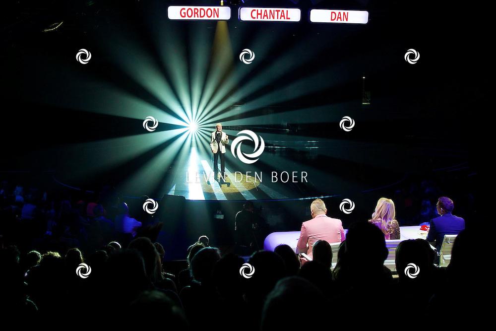 HILVERSUM - In Studio 24 zijn de finales van Holland's Got Talent 2014. Met hier op de foto  Léon Lissitza (tevens winnaar Holland's Got Talent 2014). FOTO LEVIN DEN BOER - PERSFOTO.NU
