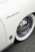 Image of a sports car in Carmel during the Monterey Historics, Carmel, central California coast, 1955 Porsche 356 Continental Cabriolet