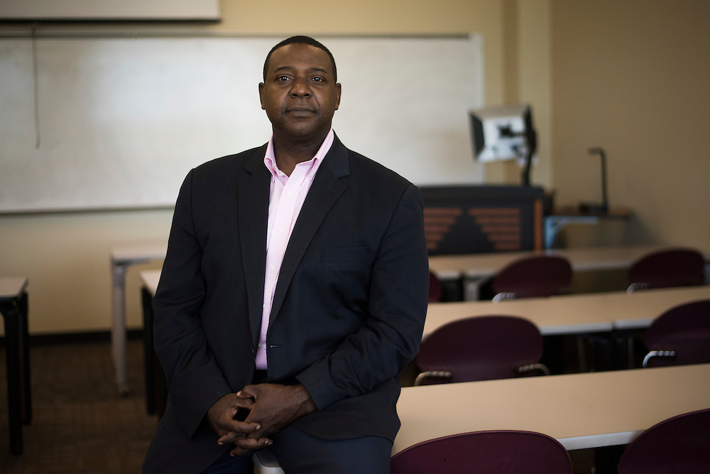 Rod Lipscomb poses for a photograph at North Central Texas College in Corinth, Texas on September 7, 2016. (Cooper Neill for The New York Times)
