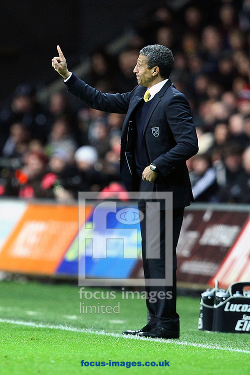 Picture by Paul Chesterton/Focus Images Ltd +44 7904 640267.08/12/2012.Norwich Manager Chris Hughton during the Barclays Premier League match at the Liberty Stadium, Swansea.