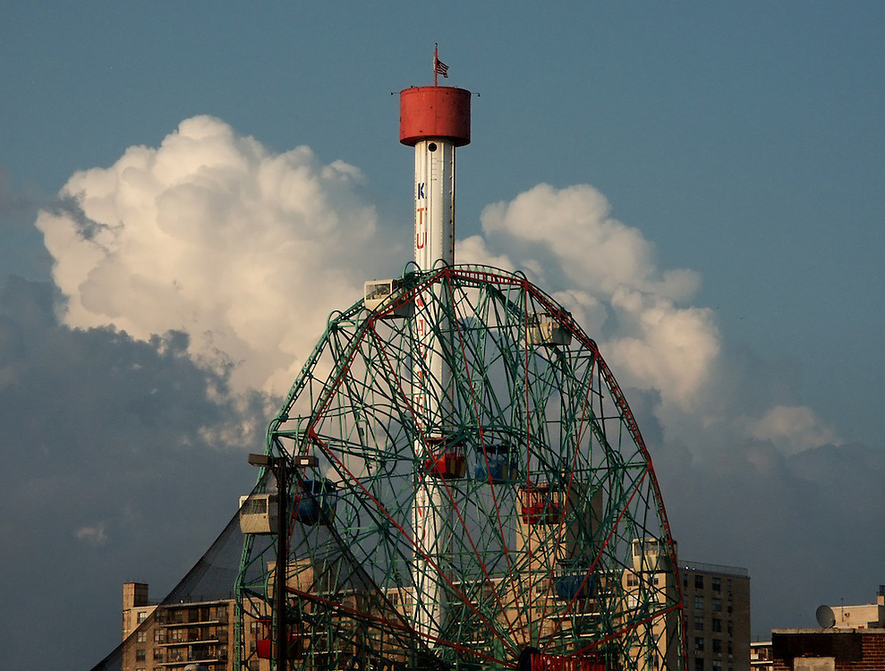 Astroland in 2002, while the observation deck was still in operation. It was out of order the last few years and cut down in 2013 when the tower started to tip in the wind.