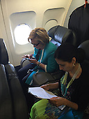 EXCLUSIVE Hillary Clinton and Huma Abedin looking through emails and paperwork
