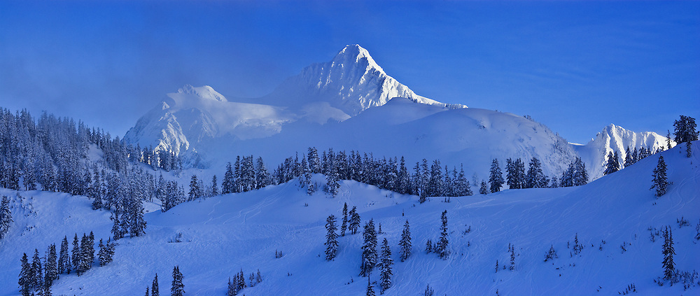 Mt. Shuksan; Winter, Mt Baker Ski Area, Washington State; North Cascades