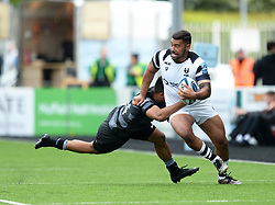 Charles Piutau of Bristol Bears tries to shake off Zach Kibirige of Newcastle Falcons - Mandatory by-line: Richard Lee/JMP - 18/05/2019 - RUGBY - Kingston Park Stadium - Newcastle upon Tyne, England - Newcastle Falcons v Bristol Bears - Gallagher Premiership Rugby