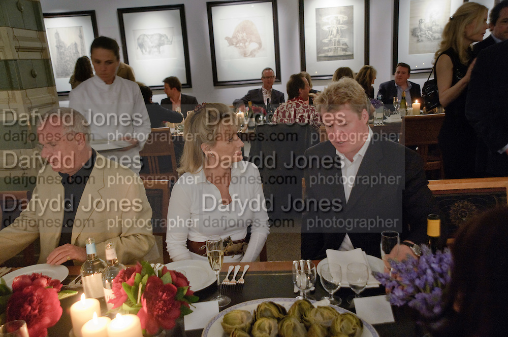 PAUL MYNERS; ALISON MYNERS; EARL OF SPENCER, DESCENT OF MAN. WOLFE LENKIEWICZ . collectors and patrons dinner. 1 MELTON ST. NW1. CHAMPAGNE RECEPTION AND DINNER