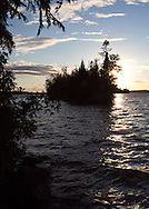 Seven participants and two guides led a Wilderness Inquiry canoe adventure on Brule Lake in the Boundary Waters from Sept. 5 to September 9, 2012...Sunset at first campsite on Brule Lake.