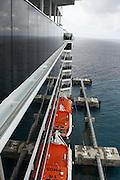 Passenger Cruise ship in the ocean