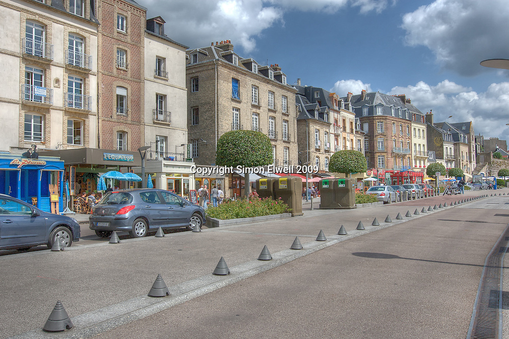 The quayside at Dieppe, Normandy