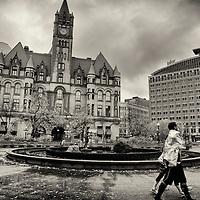 Rainy fall day in St. Paul, Minnesota.