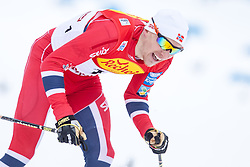 17.01.2014, Casino Arena, Seefeld, AUT, FIS Nordische Kombination, Seefeld Triple, Langlauf, im Bild Haavard Klemetsen (NOR) // Haavard Klemetsen (NOR) during Cross Country at FIS Nordic Combined World Cup Triple at the Casino Arena in Seefeld, Austria on 2014/01/17. EXPA Pictures © <br /> 2014, PhotoCredit: EXPA/ JFK