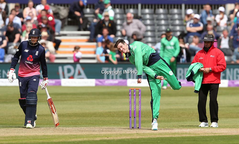 1st One Day International, Bristol Cricket Ground, England 5/5/2017<br /> England vs Ireland<br /> Ireland's George Dockrell bowls<br /> Mandatory Credit &copy;INPHO/Andrew Fosker