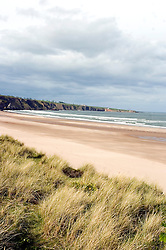 A deserted Beach and sand dunes close to Arbroath Scotland..Copyright Paul David Drabble.27 May 2007