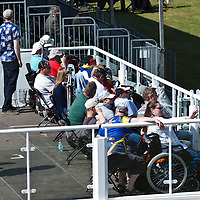 Special viewing platform for disabled enthusiasts at the Goodwood FOS on 28 June 2015