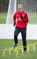 CARDIFF, WALES - Sunday, March 24, 2013: Wales' Jonathan Williams during a training session at the Vale of Glamorgan ahead of the 2014 FIFA World Cup Brazil Qualifying Group A match against Croatia. (Pic by David Rawcliffe/Propaganda)