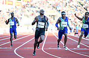 Christian Coleman (USA) defeats Michael Rodgers aka Mike Rodgers (USA) to win the 100m in 9.85 during the 54th  Bislett Games in an IAAF Diamond League meet in Oslo, Norway, Thursday, June 13, 2019. (Jiro Mochizuki/Image of Sport)