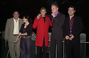 Heath Ledger, Rufus Sewell, Paul Bettany, Mark Addy, and Laura Fraser. A Knight's Tale movie premiere. Odeon, Leiceter Sq. and after-party at the Century club. © Copyright Photograph by Dafydd Jones 66 Stockwell Park Rd. London SW9 0DA Tel 020 7733 0108 www.dafjones.com