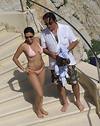 Andy Garcia with Yennifer Behrins at the Hotel Du Cap pool.Hotel Du Cap - 2007 Cannes Film Festival .Cap D'Antibes, France .Thrusday, May 24, 2007.Photo By Celebrityvibe; .To license this image please call (212) 410 5354 ; or.Email: celebrityvibe@gmail.com ;