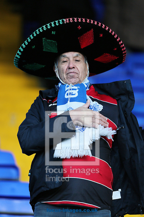 Picture by Richard Calver/Focus Images Ltd +447792 981244<br /> 11/01/2014<br /> Queens Park Rangers fan before the Sky Bet Championship match against Ipswich Town at Portman Road, Ipswich.
