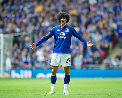 LONDON, ENGLAND - Saturday, April 14, 2012: Everton's Marouane Fellaini looks dejected during the FA Cup Semi-Final match against Liverpool at Wembley. (Pic by David Rawcliffe/Propaganda)