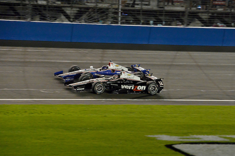 Will Power, Helio Castroneves, Auto Club Speedway, Fontana, CA USA 8/30/2014