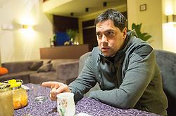 Saso Filipovski, head coach of basketball club Stelmet BC Zielona Gora (POL) at his home, on January 21, 2016 in Zielona Gora, Poland. Photo by Vid Ponikvar / Sportida