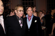 SIR ELTON JOHN AND TOMMY HILFIGER. Mario Testino, Bianca Jagger and Kenneth Cole celebrate Women to Women: Positively Speaking. - A publication to raise awareness of women living with Aids. The Orangery, Kensington Palace. 2 December 2004. ONE TIME USE ONLY - DO NOT ARCHIVE  © Copyright Photograph by Dafydd Jones 66 Stockwell Park Rd. London SW9 0DA Tel 020 7733 0108 www.dafjones.com