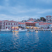 The small and beautiful town of Molyvos, on the northern coasts of Lesbos, one of the main and most important arrival points of the refugees since summer 2015