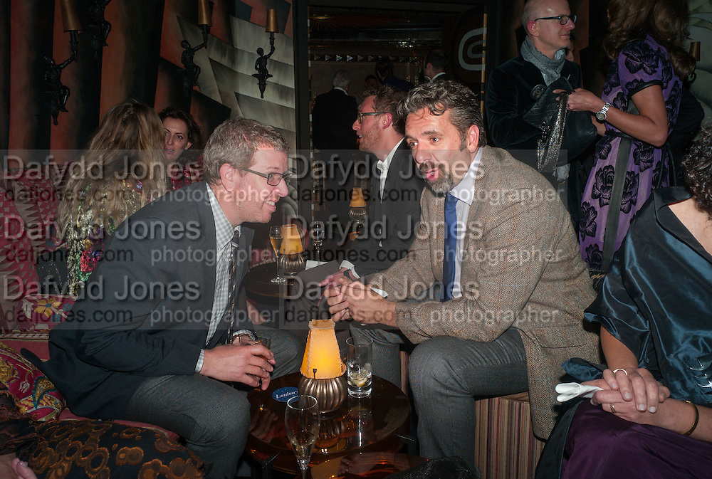 MARC GLIMCHER; KEITH TYSON, Dinner to celebrate the opening of Pace London at  members club 6 Burlington Gdns. The dinner followed the Private View of the exhibition Rothko/Sugimoto: Dark Paintings and Seascapes.