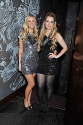 Left to right, Singers CECILEA and AMELIA known as Aurora at a party to celebrate the launch of Pomp magazine - a magazine representing London Luxury without the Ceremony focusing on the luxury, fashion and culture of the Capital, hosted by Tom Parker Bowles and the Directors of Pomp Magazine held at The Cuckoo Club, Swallow Street, London on 17th November 2011.