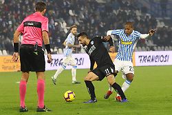 "Foto Filippo Rubin<br /> 01/12/2018 Ferrara (Italia)<br /> Sport Calcio<br /> Spal - Empoli - Campionato di calcio Serie A 2018/2019 - Stadio ""Paolo Mazza""<br /> Nella foto: FRANCESCO CAPUTO (EMPOLI) VS LUIZ EVERTON (SPAL)<br /> <br /> Photo Filippo Rubin<br /> December 01, 2018 Ferrara (Italy)<br /> Sport Soccer<br /> Spal vs Empoli - Italian Football Championship League A 2018/2019 - ""Paolo Mazza"" Stadium <br /> In the pic: FRANCESCO CAPUTO (EMPOLI) VS LUIZ EVERTON (SPAL)"