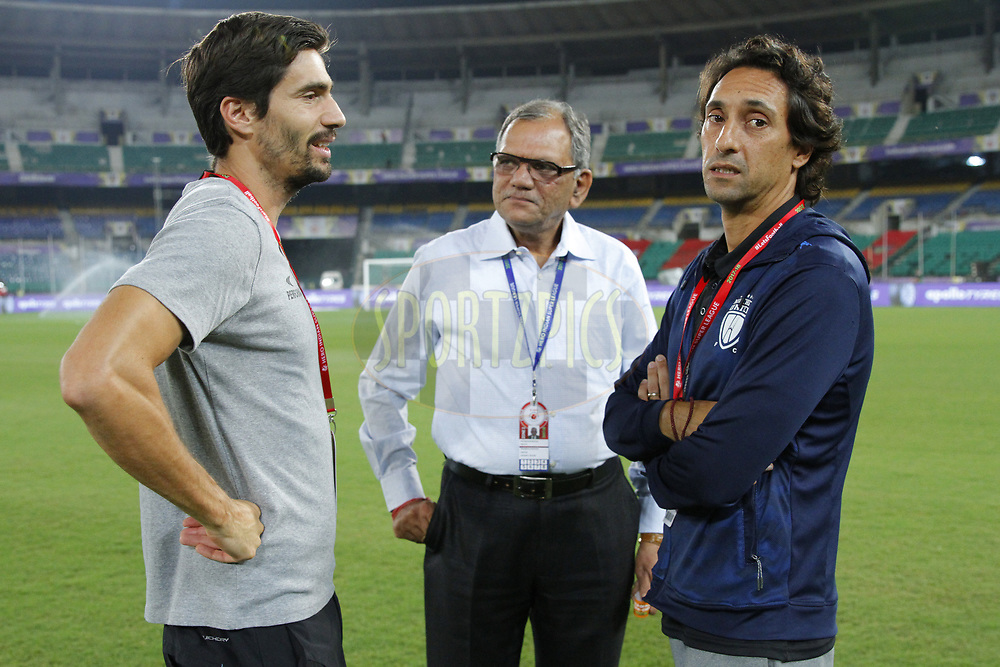 Jo?o Carlos Pires de Deus Head coach of North East United FC during match 6 of the Hero Indian Super League between Chennaiyin FC and NorthEast United FC held at the Jawaharlal Nehru Stadium, Chennai India on the 23rd November 2017<br /> <br /> Photo by: Arjun Singh  / ISL / SPORTZPICS