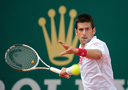 MONTE-CARLO, MONACO - Saturday, April 17, 2010: Novak Djokovic (SRB) during the Men's Singles Semi-Final on day six of the ATP Masters Series Monte-Carlo at the Monte-Carlo Country Club. (Photo by David Rawcliffe/Propaganda)