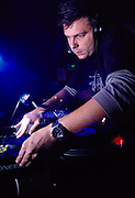 DJ Darren Emerson (Underworld) dj'ing at World DJ Day Fabric London March 2002