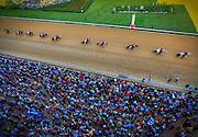 Arkansas Democrat-Gazette/BENJAMIN KRAIN --4/16/11--<br />  during the Arkansas Derby at Oaklawn Park on Saturday.