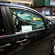 New York, US - August 2015. Auto Uber in servizio nelle strade di New York - Uber car service on the streets of New York
