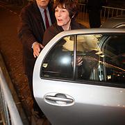 NLD/Amsterdam/20080201 - Verjaardagsfeest Koninging Beatrix en prinses Margriet, Leen Timp en partner Mies Bouwman