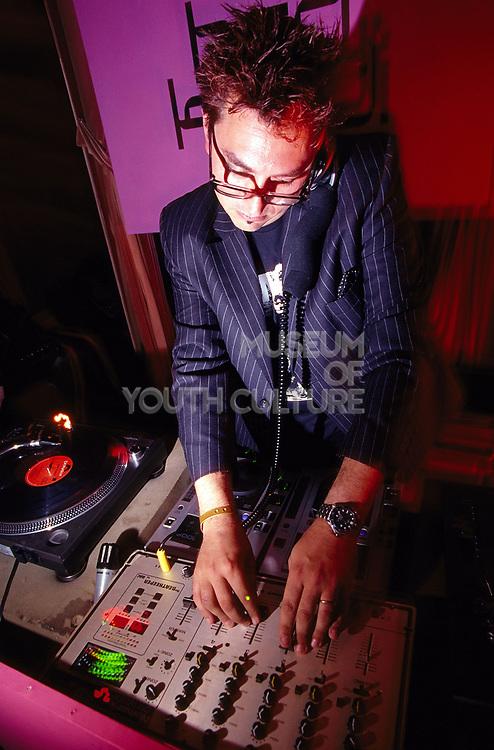 DJ Eric Kupper DJ'ing at Club 144 London May 2002