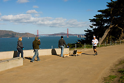California: San Francisco. Land's End view of the Golden Gate. Photo copyright Lee Foster. Photo #: 25-casanf75723