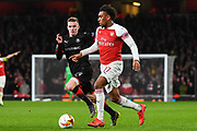 Arsenal Midfielder Alex Iwobi (17) in action during the Europa League round of 16, leg 2 of 2 match between Arsenal and Rennes at the Emirates Stadium, London, England on 14 March 2019.