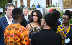 The Duchess of Sussex attends a reception for young people, community and civil society leaders at the Residence of the British High Commissioner in Cape Town, on day two of her tour of Africa with her husband the Duke of Sussex.